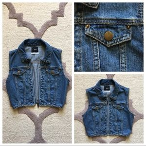 BDG Cropped Denim Vest - Urban Outfitters